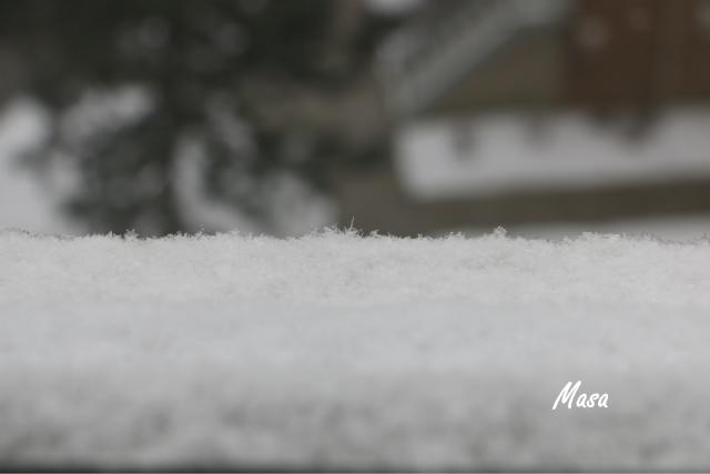 雪と青空と